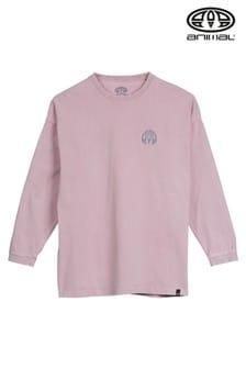 חולצת טי עם שרוולים ארוכים של Animal Allium דגם Taylor בסגול