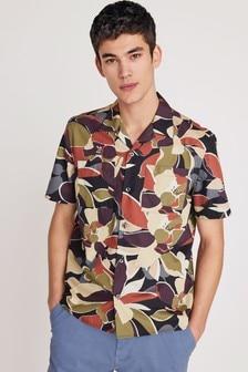 Рубашка с рисунком и коротким рукавом