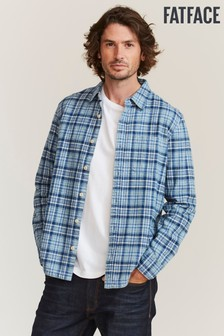 FatFace Blue Shawley Check Shirt