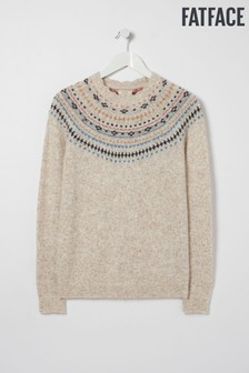 FatFace Natural Fairisle Pattern Jumper