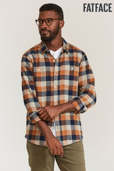 FatFace Brown Watton Check Shirt