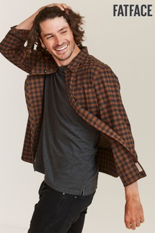 FatFace Brown Thorney Gingham Shirt