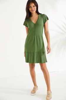 Pointelle Detail Dress