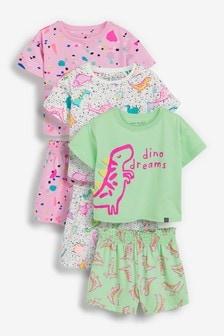 Набор пижамных комплектов с динозаврами и 3D-шипами (3 компл.) (9 мес. - 8 лет)
