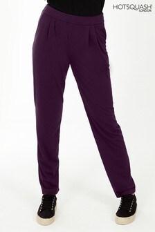 HotSquash Purple Slouch Glam Trousers