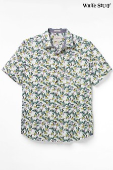White Stuff Green Neotropic Toucan Print Shirt