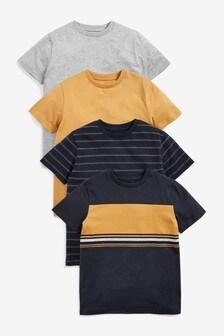 4 Pack Colourblock T-Shirts (3-16yrs)
