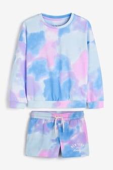Printed Tie Dye Back Print Cotton Short Pyjama Set (3-16yrs)
