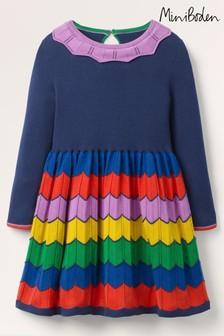 فستان منسوج أزرق ملون منBoden