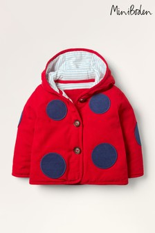 Boden Red Cord Appliqué Coat