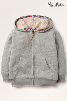 Boden Grey Fun Shaggy-Lined Hoody