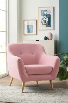Lacey Armchair With Light Legs