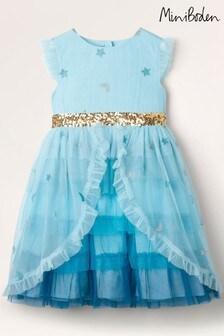 Modré vrstvené tylové sviatočné šaty Boden