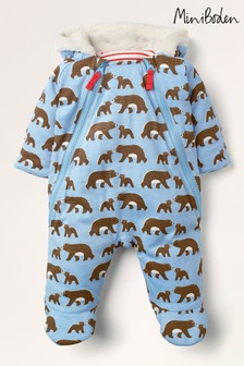 Boden Blue Cub Printed All-In-One