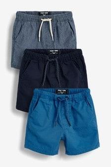 3件裝鬆緊短褲 (3個月至7歲)