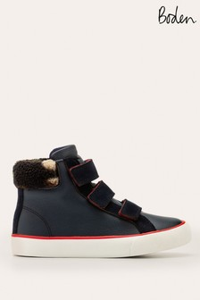 Boden Blue Cosy High Top Trainers