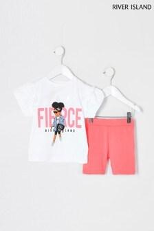 מכנסי רכיבה קצרים של River Island דגם Fierce Girl בלבן