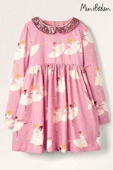 Boden Pink Sparkle Collar Party Dress