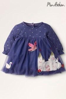 فستان تول أزرق داكنMagical منBoden