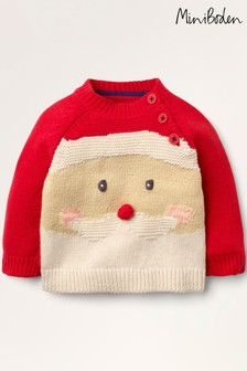 Boden Red Christmas Fun Jumper