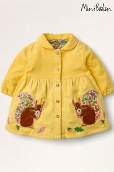 فستان محزز كم طويل أصفر من Boden