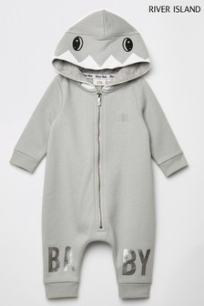 River Island Grey Shark All-In-One