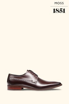 John White Ainesworth Brown Punched Derby Shoes