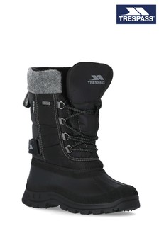 Trespass Black Strachan - Youths Snow Boots