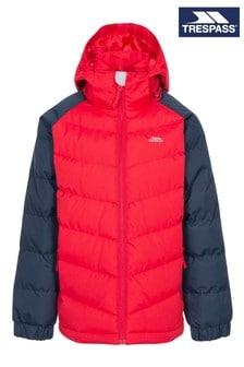Красная дутая куртка Trespass Sidespin