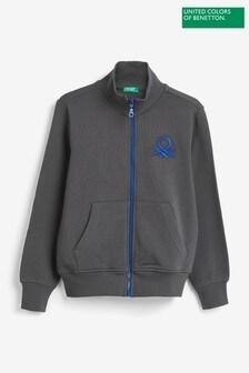 Benetton 灰色拉鏈夾克