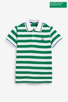 Benetton Stripe Polo Shirt