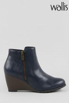 נעלי עקב רוקי עם רוכסן צד של Wallis, דגם Astonishing בצבע נייבי