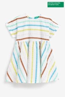 Benetton Kleid mit Regenbogenstreifen