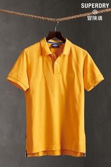 חולצת פולו מכותנה אורגנית של Superdry דגם Vintage Destroyed