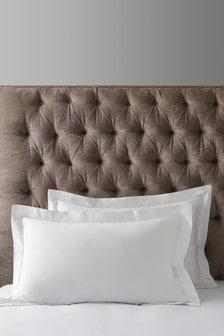Collection Luxe Kissenbezüge aus 100 % Baumwolle im 2er-Set, Fadendichte: 300, Weiß