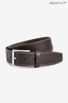 GANT Black Contrast Stitch Belt