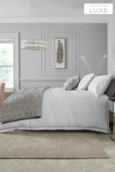 White 600 Thread Count 100% Cotton Sateen Collection Luxe Duvet Cover and Pillowcase Set