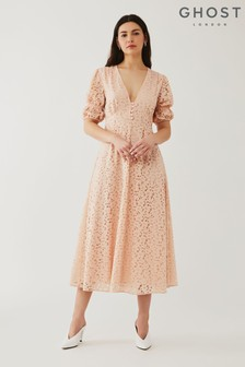 Ghost Pink Ebba Lace Dress