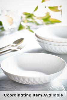 White Hatton Set of 4 Pasta Bowls
