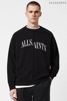 AllSaints ブラック Diverge ロゴ クルーネック スウェットトップス