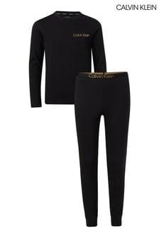 طقم بيجاما Modern Cotton أسود من Calvin Klein