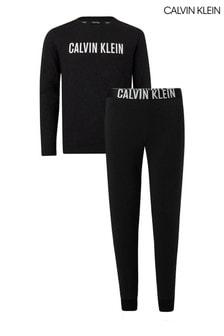 طقم بيجاما Intense Power أسود من Calvin Klein