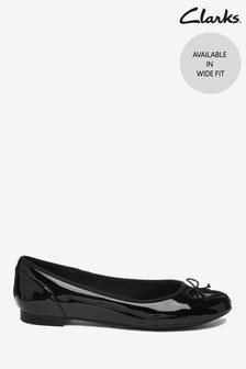 Clarks Black Pat Couture Bloom Shoes