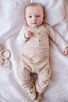 סט אוברול ובגד גוף עם פסים (0 חודשים עד גיל 2)