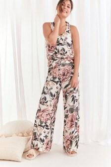 Jersey-Pyjama mit Camisole