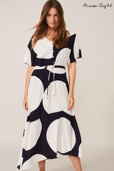 שמלהמנוקדת שלPhase Eight דגםSage בכחול