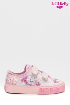 Lelli Kelly Silver Unicorn Velcro Trainers