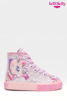 Lelli Kelly Pink Unicorn High Top Trainers