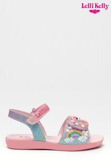 Lelli Kelly Pink Unicorn Sandals