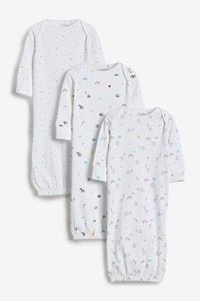 מארז 3 שמלות לתינוקות (0-6 חודשים)